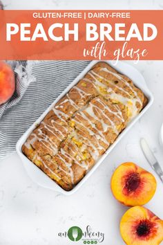 Peach Bread with spongy and moist texture is made gluten-free and dairy-free. A flavorful and lightly sweet breakfast bread the whole family will enjoy! Ana Ankeny - Healthy Recipes Gluten Free Sweets, Gluten Free Baking, Dairy Free Recipes, Waffle Recipes, Fruit Recipes, Real Food Recipes, Summer Grilling Recipes, Summer Recipes, Sweet Breakfast