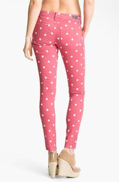 Paige 'Verdugo' Skinny Stretch Jeans (Dusty Rose) available at Nordstrom