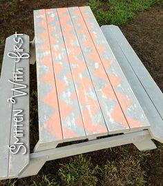 Chevron picnic table!!