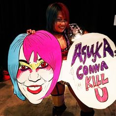 Ok, this #fanart just won the show in #NXTBakersfield! @wwe_asuka