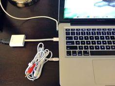 How to Plug a Macbook into A TV #stepbystep