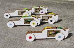 """""""The Maker Racer is a fun and creative learning tool which is designed to teach students about mechanics and physics while giving them an memorable, hands-on activity. The kit comes with a car frame, wheels, spring and several gears."""" - 7/11/14"""