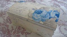 Decoupage box - decoupage on wooden box - decoupage pudełko vintage - de...