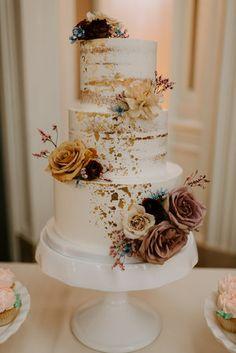 Fall Wedding Cakes, Wedding Cake Rustic, Wedding Cakes With Cupcakes, Elegant Wedding Cakes, Beautiful Wedding Cakes, Wedding Cake Designs, Beautiful Cakes, Floral Wedding Cakes, Elegant Cakes