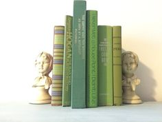 Vintage Green Decorative book lot by HellwarthVintageCo on Etsy