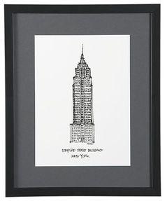 Cityscape New York City Print - modern - artwork - Crate