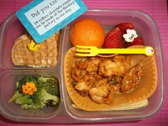 Chinese Wacky Worldly Waffle Wednesday leftover lunch in an Easylunchbox from Lunches Fit For a Kid