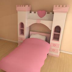princess over bed castle storage