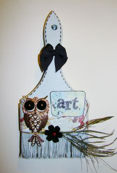 Art - altered paint brush   artistic words series  $25.00