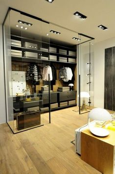 Walk in closet a trendy space in any home. Luxury Wardrobe, Wardrobe Design Bedroom, Master Bedroom Closet, Luxury Closet, Wardrobe Closet, Closet Space, Dressing Room Design, Dream Closets, Closet Designs