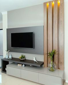Discover recipes, home ideas, style inspiration and other ideas to try. Modern Tv Room, Modern Tv Wall Units, Living Room Remodel, Living Room Decor, Living Rooms, Tv Rack Design, Interior Design Your Home, Interior S, Living Room Tv Unit Designs