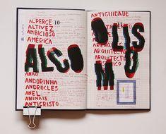 Dicionário das Ideias Feitas - Gustave Flaubert on Editorial Design Served Page Layout Design, Book Layout, Book Design, Philip Glass, Photo Rock, Designers Gráficos, Handwritten Type, Design Editorial, Art Zine