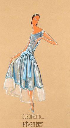 Paul Iribe Jeanne Lanvin Cleopatre Illustration  1925