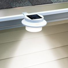 Flexzion Solar LED Light – Sun Powered Energy Saving Night Utility Security Lamp for Indoor Outdoor Any House Yard Gutter Fence Garden Garage Shed Walkways Stairs Anywhere Safety Lighting in White - DIY Gartendekor Dollar speichert Indoor Outdoor, Outdoor Garden Lighting, Fence Lighting, Landscape Lighting, Outdoor Decor, Garage Lighting, Rope Lighting, Lighting System, Outside Lighting Ideas