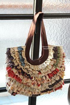 Vivian Ruffled Bag pattern -  I think sew by margielikes
