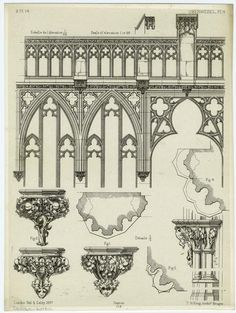 Architectural Ornamentation In The Gothic Style