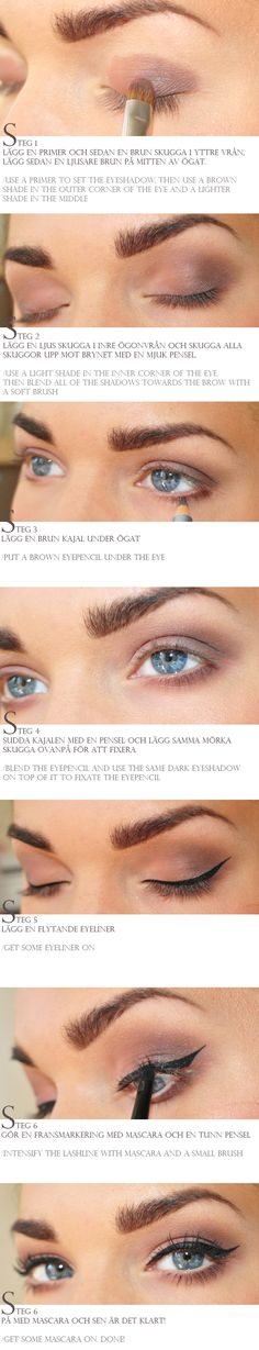 brown eyeshadow how to