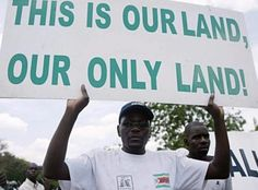 Zimbabwe Fresh Land Grab: Zanu-PF Youths Take Actions Against Whites President Robert Mugabe's fresh land evasion campaign has generated a fresh wave of anti-white war in some parts of the country with the Zanu-PF yout