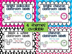 This product is the perfect addition to your themed classroom!  This set includes labels for your classroom library, team supplies, and to label each of your teams with a cute and colorful sign! Four themes are available! $2