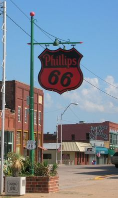On Route 66 in Chandler, Okla.