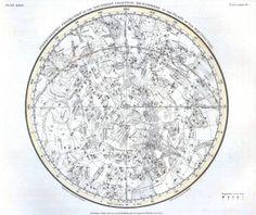 Astronomy - Celestial Atlas - Jamieson 1822 - Plate 28