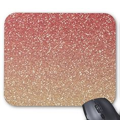 Rectangle Gaming Mousepad Coral Pink And Gold Faux Glitter Mouse Pad Mouse Pads http://www.amazon.com/dp/B01760TDLI/ref=cm_sw_r_pi_dp_z69Lwb1NVKBSN