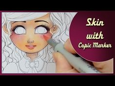 Coloring skin with Copic Marker - time lapse with commentary Copic Marker Art, Copic Pens, Copic Sketch Markers, Copic Art, Copics, Copic Markers Tutorial, Prismacolor, Hidrocor, Creepy Drawings