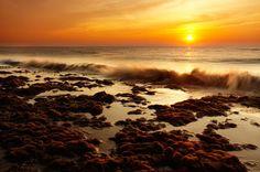 modern canvas - free worldwide shipping - Orange Sunset at beach, $199.99 (http://www.moderncanvas.com.au/orange-sunset-at-beach/)