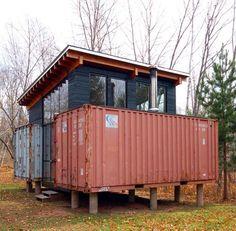 Holyoke Cabin Container Green Getaway