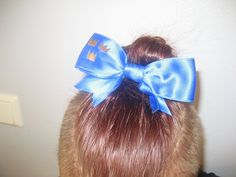 When my sisters team (Swedish national team of were competing in european championships in Amsterdam, I made my self a tiny copy of their How To Look Pretty, That Look, European Championships, Cheerleading, Amsterdam, Sisters, Bows, Fancy, How To Make