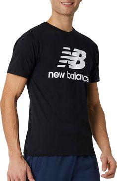 New Balance Men, Mens Essentials, Cloths, Neckline, Silhouette, Athletic, Detail, Printed, Amp