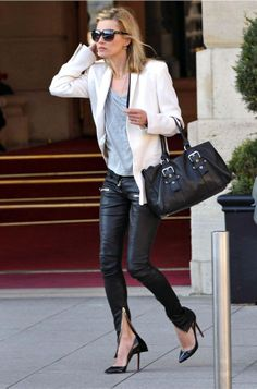 Kate Moss Leather Trousers