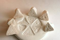 Texture Stamps for Clay CHOOSE One or Two Triangles by GiselleNo5