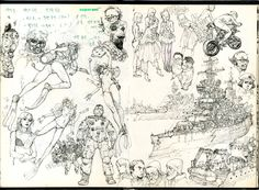 Random drawings by Kim Jung Gi  You can check out his work at www.kimjunggius.com