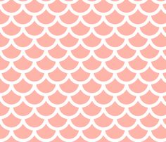 mermaid - apricot fabric by gingerme on Spoonflower - custom fabric