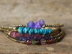 Turquoise Bracelet Beaded Bracelet gemstone Bracelet Gold