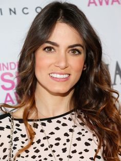 Famous Actress Nikki Reed  As Rosalie Hale From the Twilight Sagas Movies with her Ombre-Highlights-Loose-Wavy Hairdo.