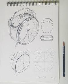 ⏰ ❣관찰과 물체의 구조파악❣ - - - #수진T #수진🖌 #수진쌤 #제시물 #연습 #기초디자인 #입시미술 #입시그림 #기초디자인기초 #미술기초 #입시기초 #그림기초 #미대입시 #미술입시 #미술 #그림 #개체묘사 #인공물 #스케치 #드로잉 #알람시계… Copic Drawings, Cool Art Drawings, Pencil Art Drawings, Art Drawings Sketches, Interior Design Sketches, Industrial Design Sketch, Sketch Design, Perspective Drawing Lessons, Perspective Art