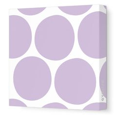 "Avalisa Pattern Big Dots Stretched Canvas Art Color: Yellow, Size: 36"" x 36"""
