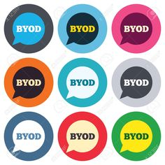 35743412-BYOD-sign-icon-Bring-your-own-device-symbol-Speech-bubble-sign-Colored-round-buttons-Flat-design-cir-Stock-Vector.jpg 1,300×1,300 pixels