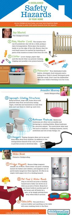 September is Baby Safety Month.  Here are 9 Overlooked Safety Hazards in your home for young ones.