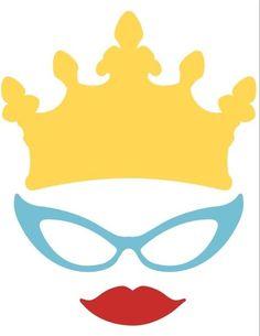 Printable lips glasses crown