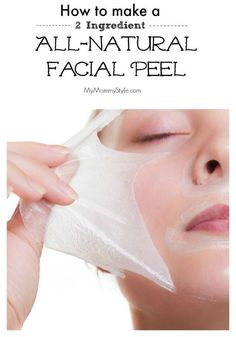 How to Make a 2 ingredient All-Natural Facial Peel face peel, natural, make your own, face care, mym Acne Face Mask, Face Skin, Face And Body, Face Peel Mask, Skin Mask, Natural Facial, Natural Skin, Natural Beauty, Chemisches Peeling
