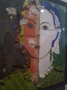 Manolo Valdés: Retrato sobre fondo verde y negro