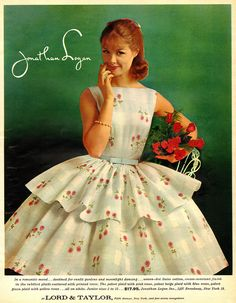 1960. With lots of (itchy) Crinolines. But, Oh So Cute and Love Being a Girl !