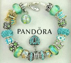 >>>Pandora Jewelry OFF! >>>Visit>> Authentic pandora bracelet with charms green turquoise butterfly murano flower charms pandora rings pandora bracelet Fashion trends Fashion designers Casual Outfits Street Styles Women's fashion Runway fashion Pandora Beads, Pandora Bracelet Charms, Pandora Jewelry, Charm Bracelets, Link Bracelets, Pandora Collection, Bracelet Designs, Green Turquoise, Beaded Jewelry