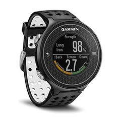 Garmin Approach Quartz // The Garmin Approach Quartz is a feature-packed hi-res color touchscreen GPS golf watch with built in swing metrics, including SwingStrength calibration, help. Sport Watches, Cool Watches, Watches For Men, Gps Watches, Golf Gadgets, Durable Watches, Cheap Golf Clubs, Golf Gps Watch, Golf Apps