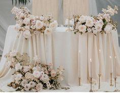 Grey Wedding Decor, Blue And Blush Wedding, Church Wedding Decorations, Floral Wedding, Wedding Table Settings, Wedding Table Centerpieces, Floral Centerpieces, Classic Romantic Wedding, Traditional Wedding Decor
