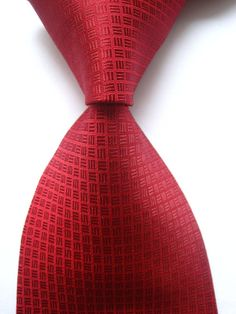 New Classic Pattern Red JACQUARD WOVEN 100% Silk Men's Tie Necktie #Handmade #NeckTie Tie And Pocket Square, Pocket Squares, Red Day, Red High Heels, Red Rooms, Tie Styles, Suit Fashion, Well Dressed, Mens Suits