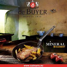 de Buyer - Mineral B Element - runde Eisenpfanne --- Für Bräunen und Grillen von Lebensmitteln ist die de Buyer Eisenpfanne ein Muss. Perfekt zum Braten von Fleisch und Kartoffeln und zur Zubereitung von knusprigen Crêpes und leckeren Omelettes!
